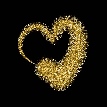 glitter heart: Glitter heart with sparkles for Valentines Day