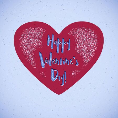 shifted: Retro Valentines Day card with heart and shifted colors Illustration