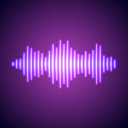 sonido: Vida nocturna de estilo de la onda de música luces de neón que brillan intensamente
