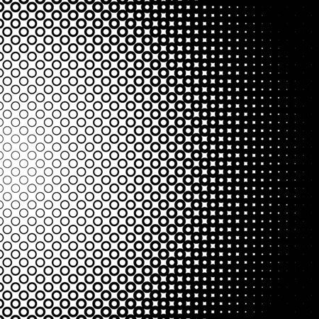 grid background: Background with gradient of monochrome circles grid Illustration