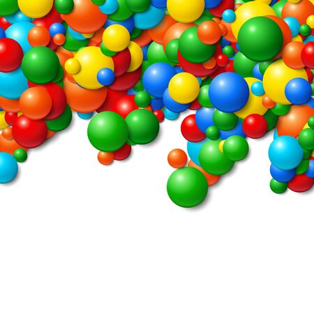 messy: Background with scatterd messy glowing rubber balls Illustration