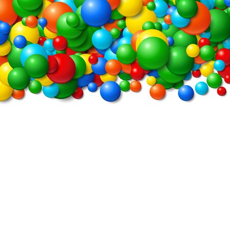 blue glass: Background with scatterd messy glowing rubber balls Illustration