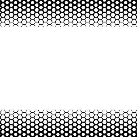 grid background: Background with gradient of monochrome hex grid