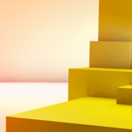 abstract cubes: Abstract background with realistic overlapping yellow cubes
