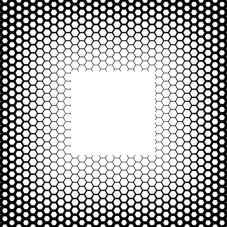 hex: Background with gradient of monochrome hex grid