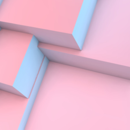 quartz: Abstract background with overlapping rose quartz and serenity cubes