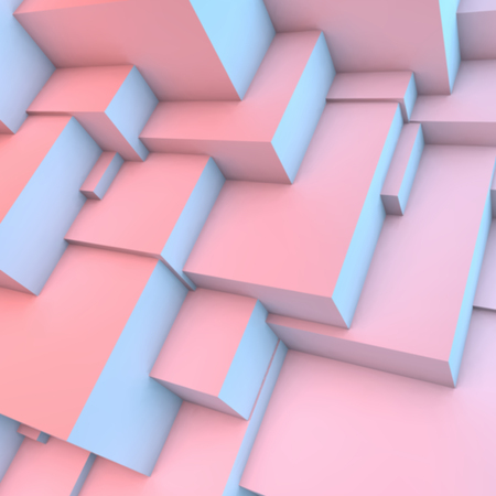 quartz crystal: Abstract background with overlapping rose quartz and serenity cubes