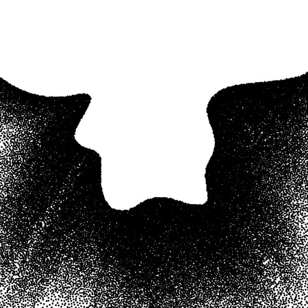 disperse: Abstract background with wavy gradient of scattered dots Illustration