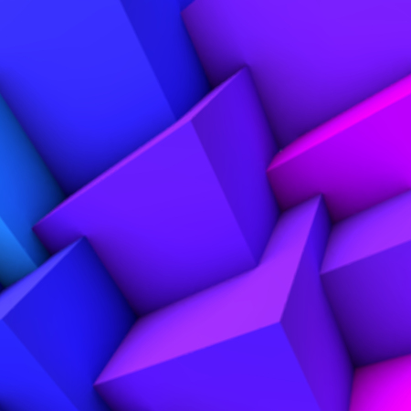 blue gradient: Abstract background with blue gradient 3D cubes