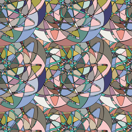 glass windows: Seamless pattern with abstract broken glass colorful shapes Illustration