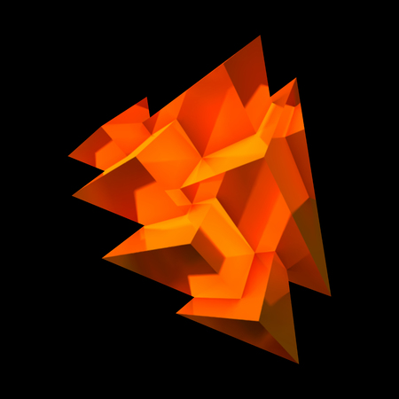 cobre: Resumen de cristal de cobre con pirámides superpuestas brillantes