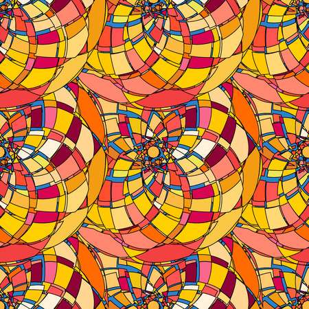 broken glass: Seamless pattern with abstract broken glass colorful shapes Illustration