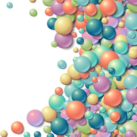 messy: Background with scattered messy glowing rubber balls Illustration