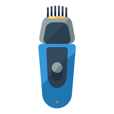 hairclipper: Shaver flat icon for home shave or barbershop