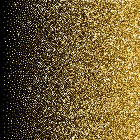 Glitter golden gradient with scattered tinsel and sparkles