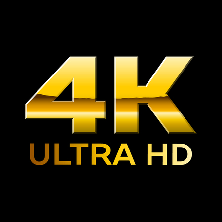 4k Ultra HD format with shiny letters Illustration