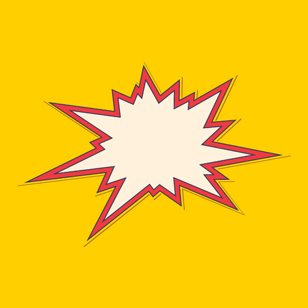 blast: Bang speech bubble. Explosive exclamation comic sign