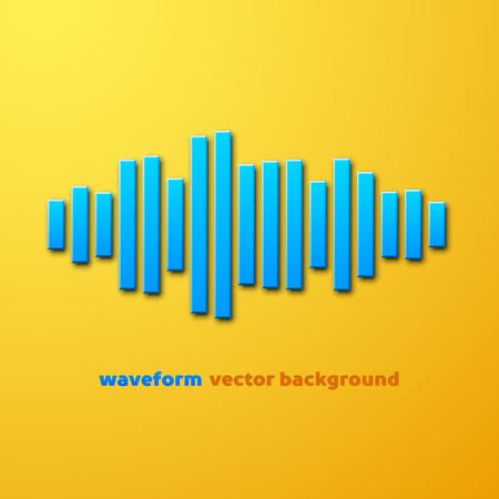 soundtrack: Silhouette of sound waveform sign with shadow Illustration