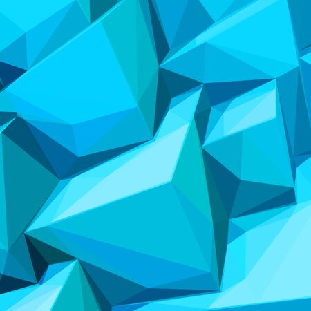 ice cubes: Poster with abstract blue ice cubes and posterized colors