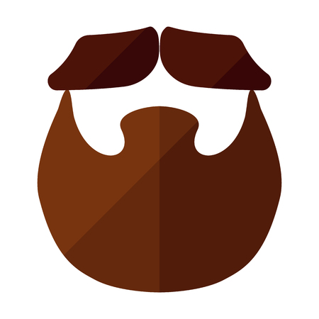 style goatee: Beard flat icon with hipster styled mustache