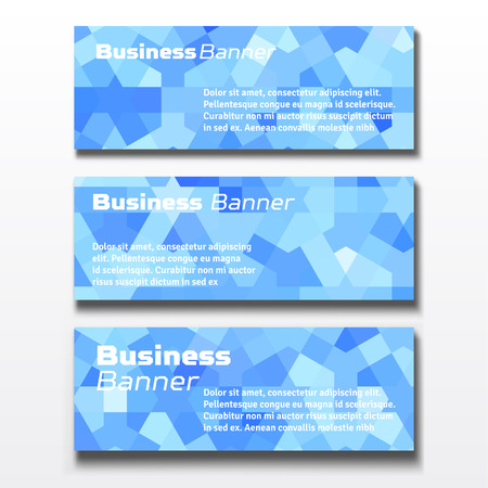 sale sticker: Set of three horizontal business banners templates