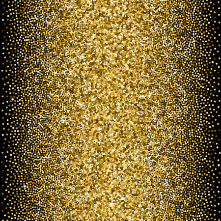 stochastic: Glitter golden gradient with scattered tinsel and sparkles