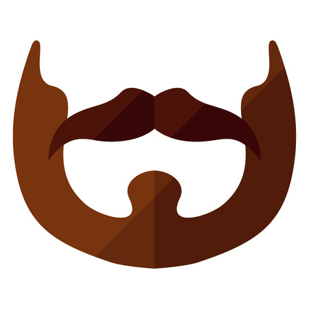 cheeks: Beard flat icon with hipster styled mustache