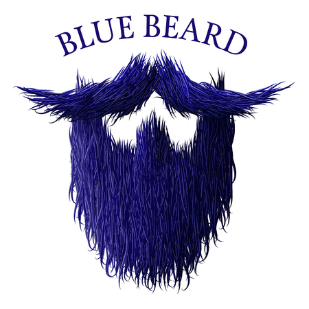 burly: Blue beard classic jealous icon with detailed hair