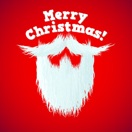 red beard: Santa Claus beard with Merry Christmas lettering