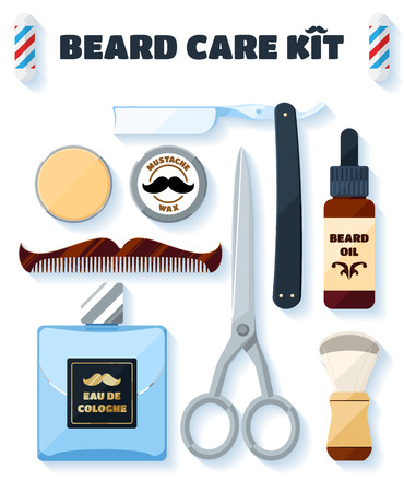 shaving: Shaving tools and accessories set for hipsters