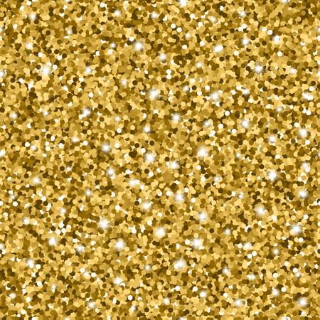 キラキラ輝く金色の円とシームレスなパターン