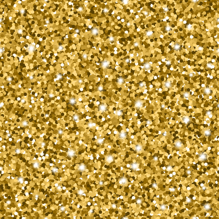 Glitter seamless pattern with golden circles and sparkles Фото со стока - 64473961