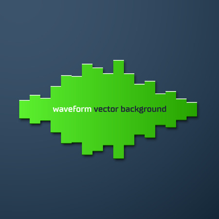 beats: Silhouette of sound waveform sign with shadow Illustration