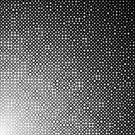 Background with gradient of monochrome circles grid Illustration