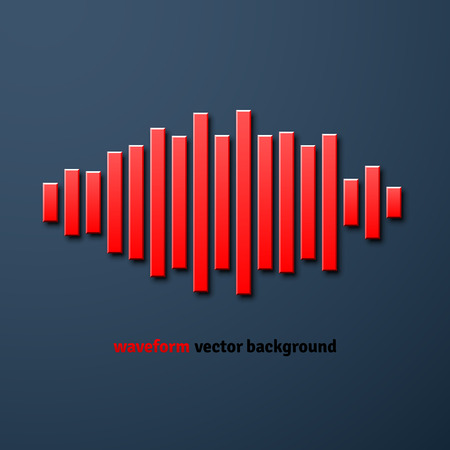 shadow silhouette: Silhouette of sound waveform sign with shadow Illustration