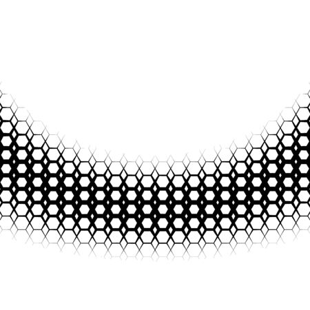 tiling: Background with gradient of monochrome hex grid