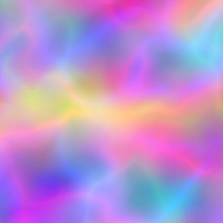 Glitch background with glowing blurred colors flow Illustration