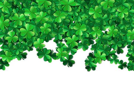 three leaf: Saint Patricks day background with sprayed clover leaves or shamrocks Illustration