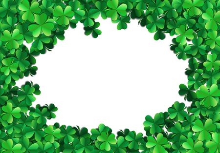 sprayed: Saint Patricks day background with sprayed clover leaves or shamrocks Illustration