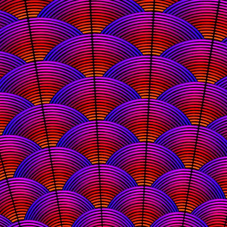 Fondo de estilo pluma con líneas curvas estilo plumaje de aves exóticas.