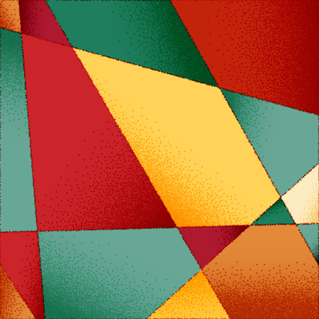 vibrant background: Abstract background with vibrant colors and retro styled vintage dotwork gradients on triangular grid