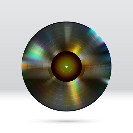 Bunte Vinyl-Disc 12-Zoll-LP-Rekord mit glänzenden Grooves