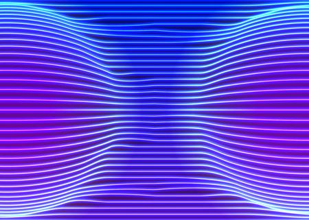 Neon background di righe con stile d'ondata di vapore retrò degli anni 80
