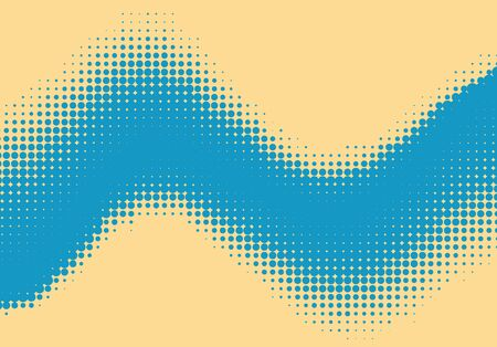 Pop art halftone retro background shapes with comics style