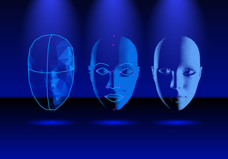 Face recognition technology in progress, from old science to modern smartphone login verification
