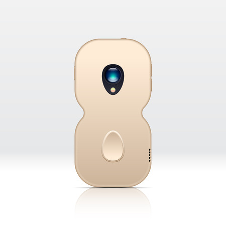 smartphone: 8 shaped smartphone for illustrating unknown new design versions. Illustration