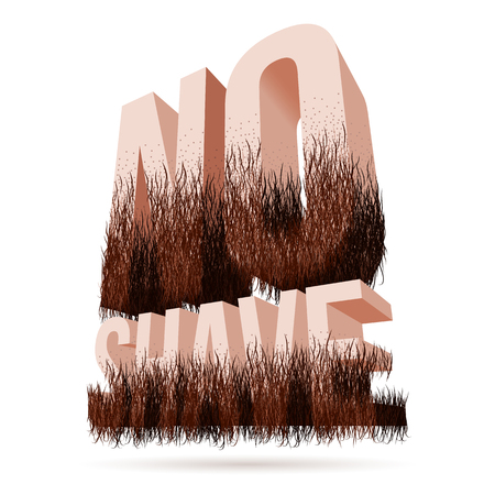 No Shave November lettering with beard symbol