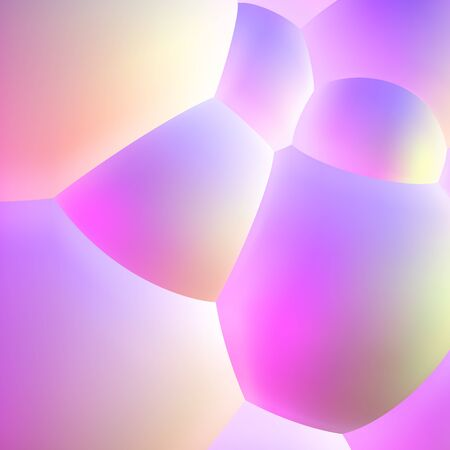 Abstract background with pearlescent bubbles balls Illustration
