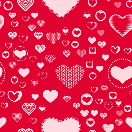 valentines day seamless pattern with pink hearts sprayed for background card or wrapping paper - Valentines Day Wrapping Paper