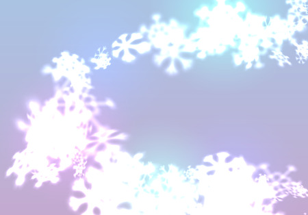 Christmas snowflakes background with falling and swirling winter snow made of blurred shiny snowflakes. Beautiful seasonal ornament for invitation, xmas card or holiday poster